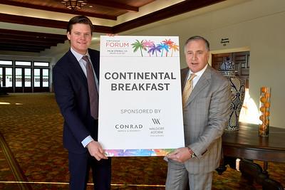 Breakfast sponsored by Waldorf Astoria Hotels and Resorts and Conrad Hotels and Resorts