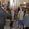 Representatives of Maine's Congressional delegates were on hand to meet the honorees. Chris Rector (Senator King), Olivia Spelman (honoree), Patricia Aho (Senator Collins), and Pam Trinward (Rep. Pingree).