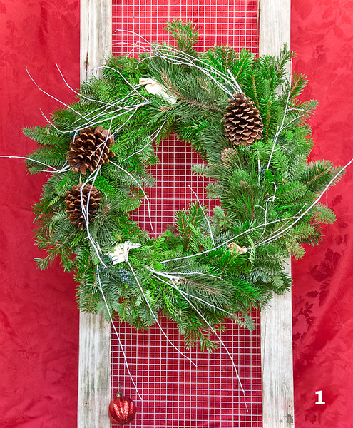 "#1 16"" Round Rustic Wreath"