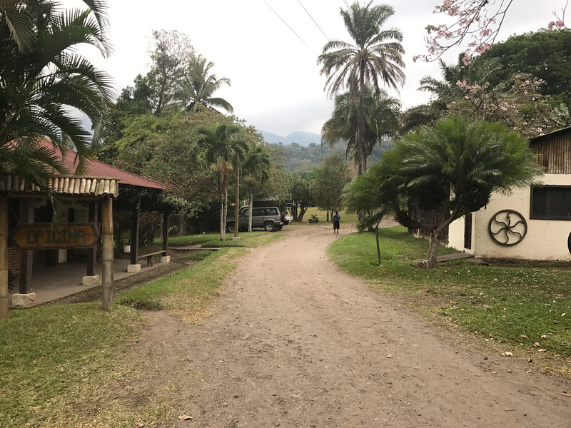 The finca area. Lodging and offices.