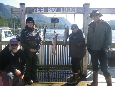 Lisa, Dalila, & Justin catching these two Silvers and 1 Cod alongside Capt. Gator