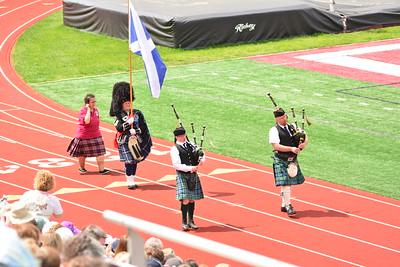photo by Linda Kerkau  The 2017 Alma Highland Festival opening ceremony