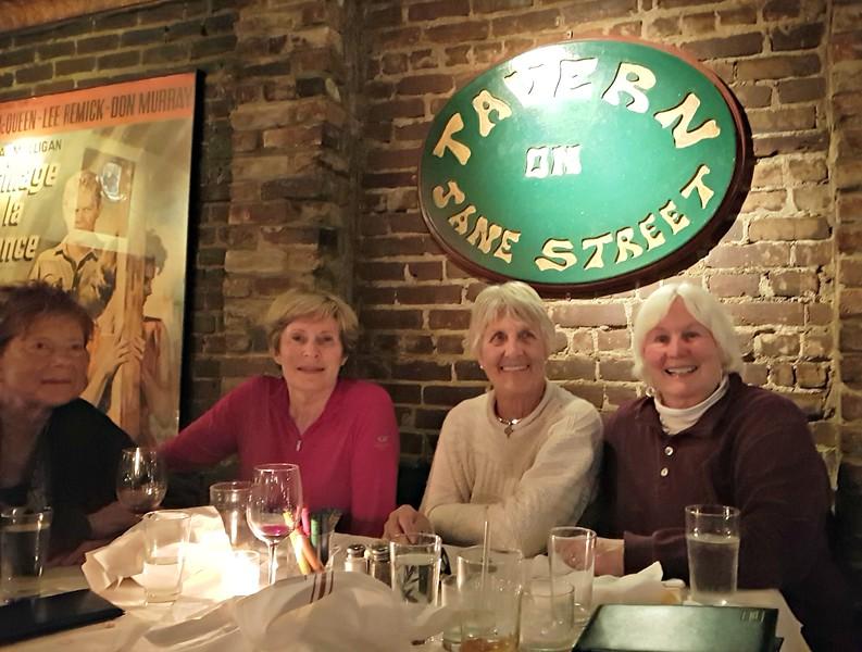 First night - Tavern on the Jane, on Jane Street, Cindy's street