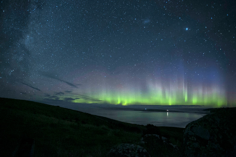 20170329 Aurora from Florence Hill overlooking Curio Bay , Catlins, NZ _JM_6435 b