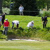"""Players, caddies and volunteers all looking  for a ball on Day 3 of the Asia-Pacific Amateur Championship tournament 2017 held at Royal Wellington Golf Club, in Heretaunga, Upper Hutt, New Zealand from 26 - 29 October 2017. Copyright John Mathews 2017.    <a href=""""http://www.megasportmedia.co.nz"""">http://www.megasportmedia.co.nz</a>"""