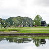 """Fans watching the action on the 4th green on the final day of the Asia-Pacific Amateur Championship tournament 2017 held at Royal Wellington Golf Club, in Heretaunga, Upper Hutt, New Zealand from 26 - 29 October 2017. Copyright John Mathews 2017.    <a href=""""http://www.megasportmedia.co.nz"""">http://www.megasportmedia.co.nz</a>"""