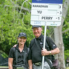 """Susan Coppersmith and Rod Preston on the final day of the Asia-Pacific Amateur Championship tournament 2017 held at Royal Wellington Golf Club, in Heretaunga, Upper Hutt, New Zealand from 26 - 29 October 2017. Copyright John Mathews 2017.    <a href=""""http://www.megasportmedia.co.nz"""">http://www.megasportmedia.co.nz</a>"""