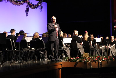 WASD Superintendent Dr. Timothy Bowers welcomes concert-goers.