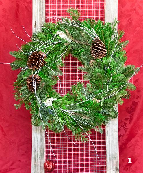 """#1 16"""" Round Rustic Wreath"""