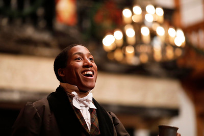 Kyle Powell as Fred in A CHRISTMAS CAROL.  Photo by Lindsey Walters.