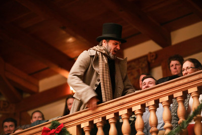 J.C. Long as Ebenezer Scrooge in A CHRISTMAS CAROL.  Photo by Lindsey Walters.