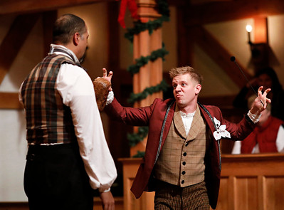René Thornton Jr. and Benjamin Reed in EVERY CHRISTMAS STORY EVER TOLD (AND THEN SOME!).  Photo by Lindsey Walters.