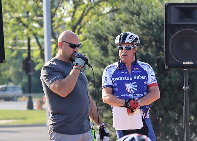 Cyclists participate in the 2017 Honor Ride Chicago presented by Evanston Subaru. Project Hero, a 501(c)3 non-profit organization, is dedicated to helping Veterans and First Responders affected by PTSD, TBI, illness and injury achieve rehabilitation, recovery and resilience in their daily lives.  Photo by Mark Carlson