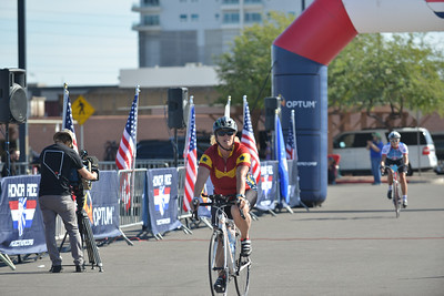 Cyclists ride the 2017 Optum Honor Ride in Las Vegas. Project Hero, a 501(c)3 non-profit organization, is dedicated to helping Veterans and First Responders affected by PTSD, TBI, illness, and injury achieve rehabilitation, recovery and resilience in their daily lives. Photo by Tiffini Skuce