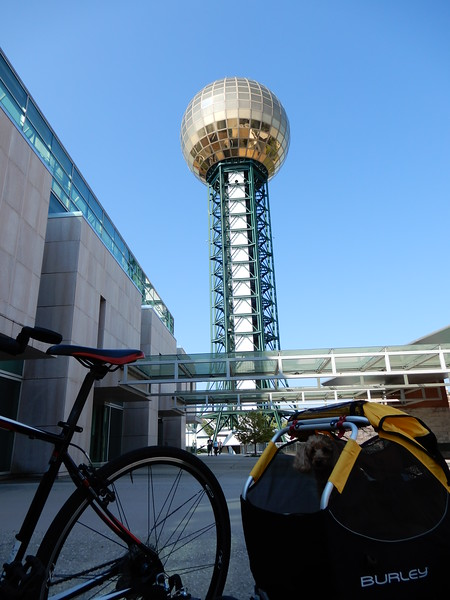 See Teddy looking out of his trailer?? The tower is called the Sunsphere.