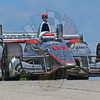 Will Power heads for turn 3 during practice at Road America; 6-23-17