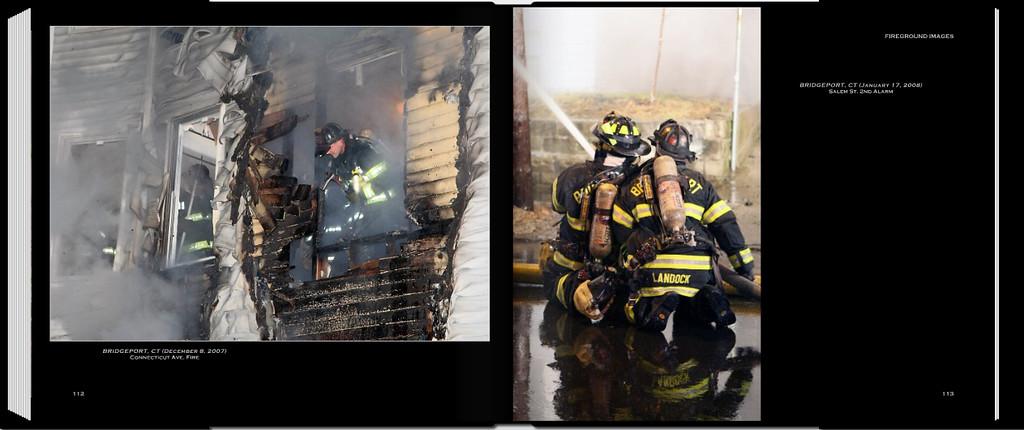 PAGE 112 (Left)<br /> BRIDGEPORT, CT (December 8, 2007)<br /> Connecticut Ave. Fire<br /> <br /> PAGE 113 (Right)<br /> BRIDGEPORT, CT (January 17, 2008)<br /> Salem St. 2nd Alarm