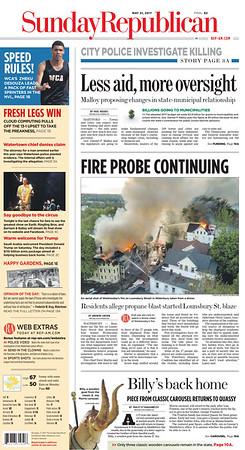 Lounsbury St  Multi Alarm Fire (Waterbury, CT) 5/17/17