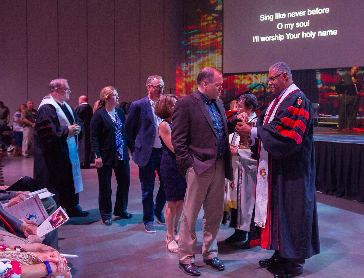 Bishop Julius C. Trimble at the Service of Remembrance and Communion at 2017 INUMC Annual Conference in Indianapolis