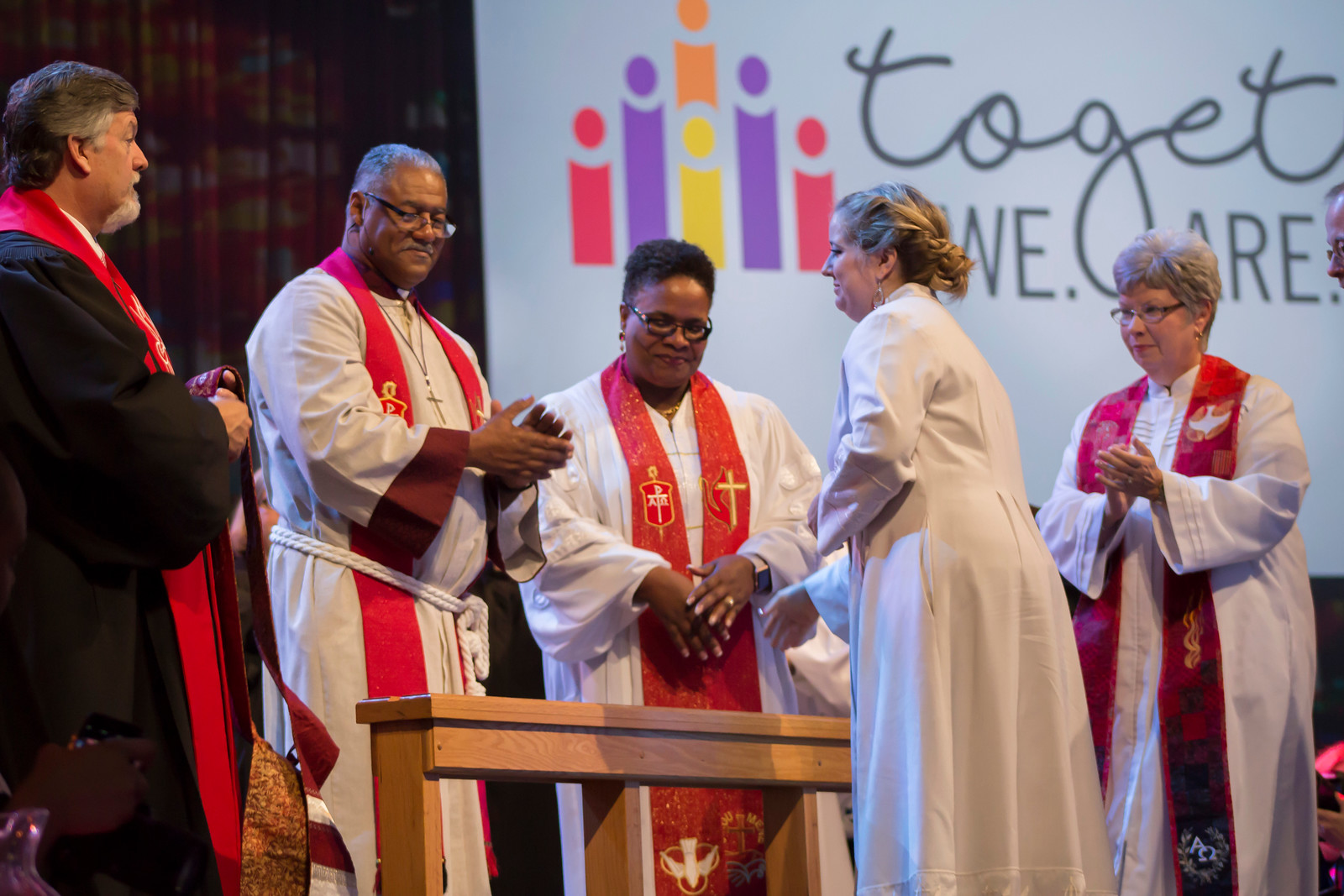 Mary Rebekah Ward Dicken at The Commissioning and Ordination Service at the 2017 INUMC Annual Conference in Indianapolis.
