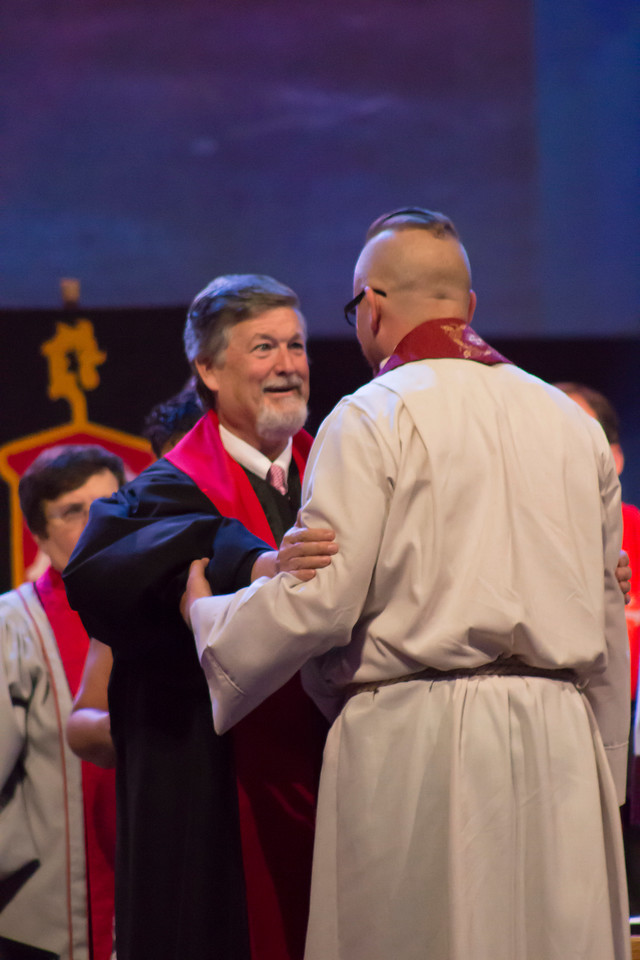 Christopher Allen Tiedeman at The Commissioning and Ordination Service at the 2017 INUMC Annual Conference in Indianapolis.