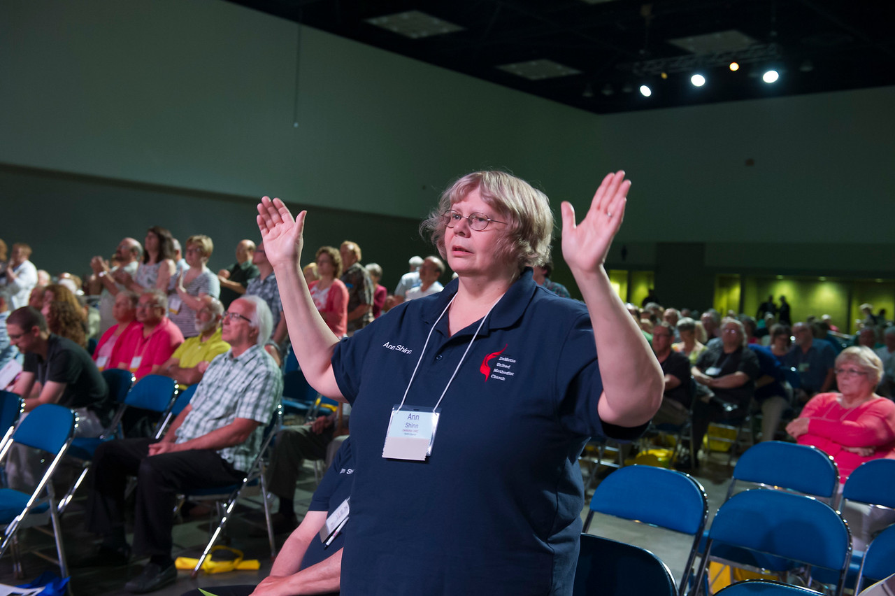 Ann Shinn at the Friday Plenary at the 2017 INUMC Annual Conference in Indianapolis.