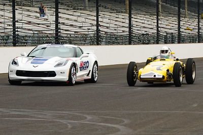 Vintage Indy Car #7 and Pace Car