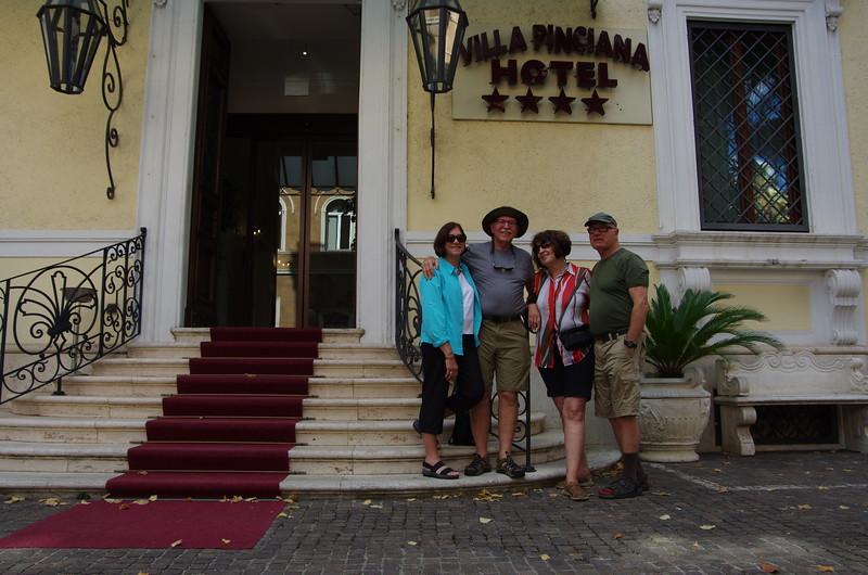We met Nancy and Bob in Rome.