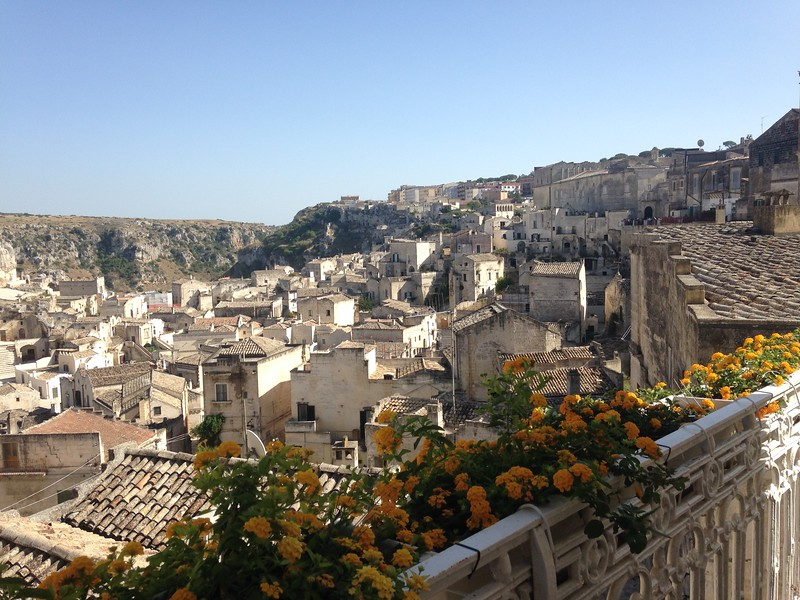 View from our Window in Matera
