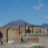Pompeii, The Forum, with Vesuvius in background