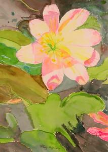 IMG_2520  Alpine Flower Fantasy,,watercolor