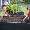 Digging over the veggie patch, ready for our seeds