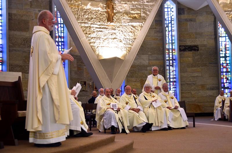 Fr. Ed speaks to the jubilarians