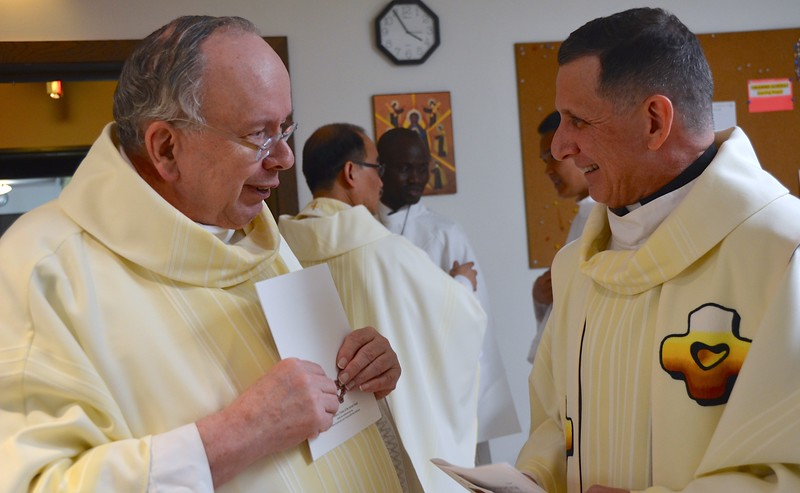 Fr. Jim and Fr. Mark catch up
