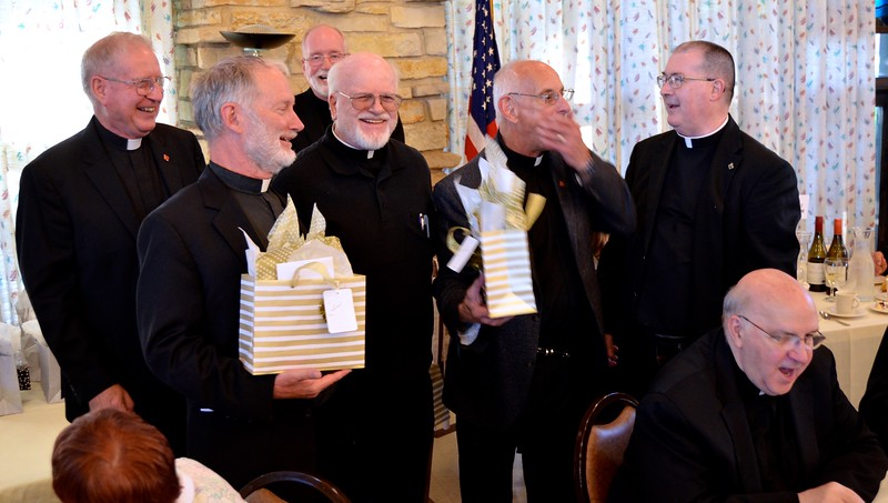 50-year jubilarians share a laugh