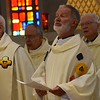 Jubilarians at the altar
