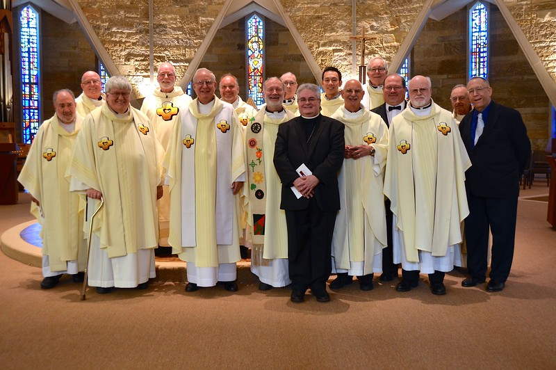 Our jubilarians with Fr. Ed