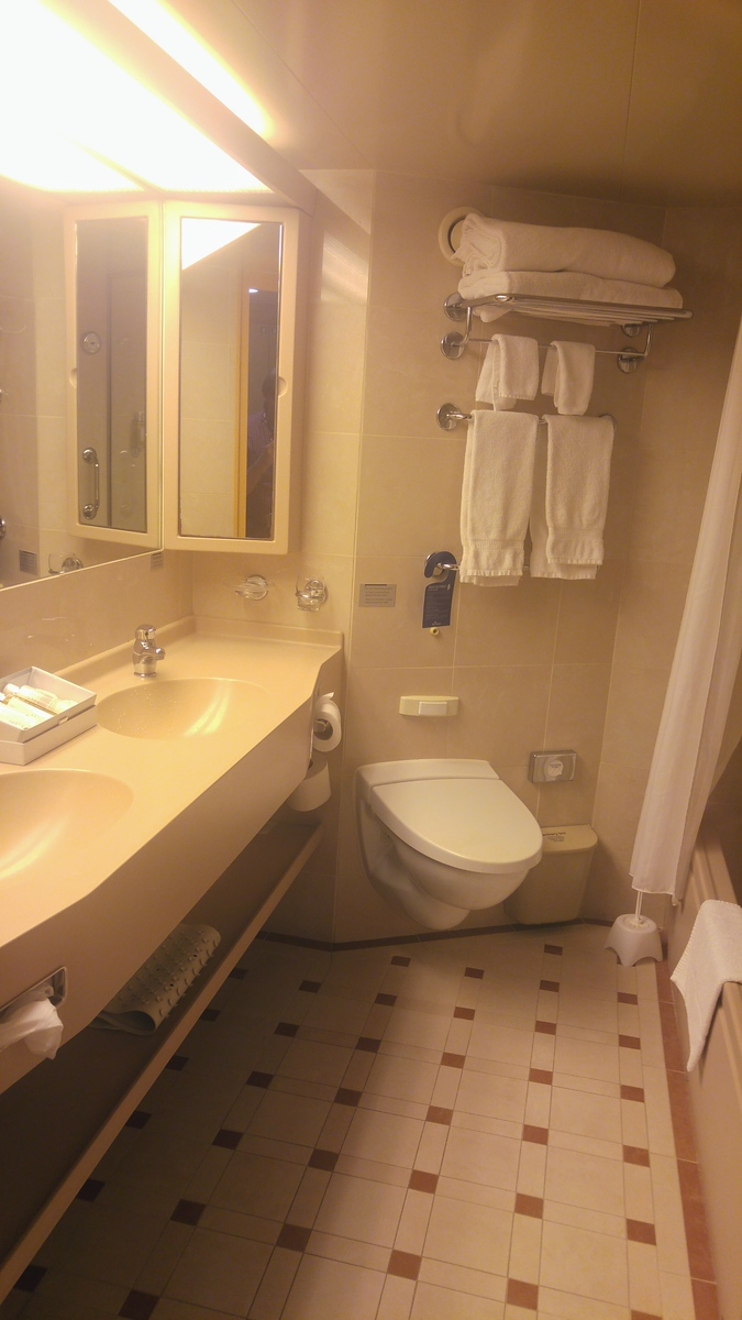 P&O Arcadia Mini-Suite Double Basin and Toilet