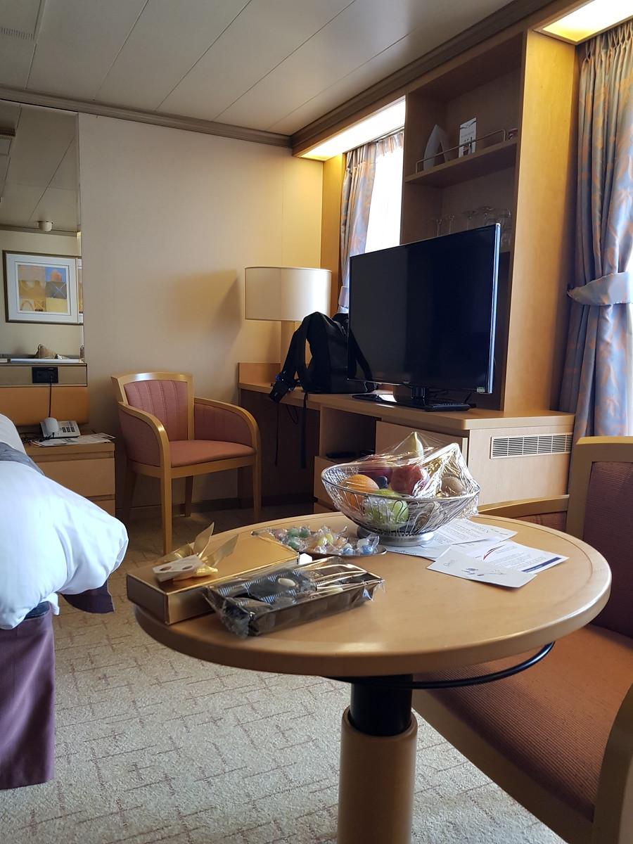 P&O Arcadia Mini-Suite TV Unit and Window