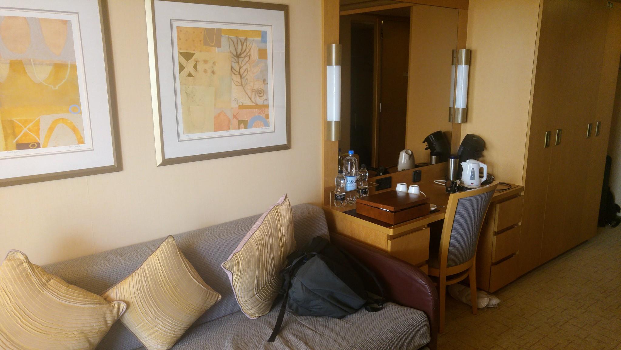 P&O Arcadia Mini-Suite Sofa and Vanity Unit