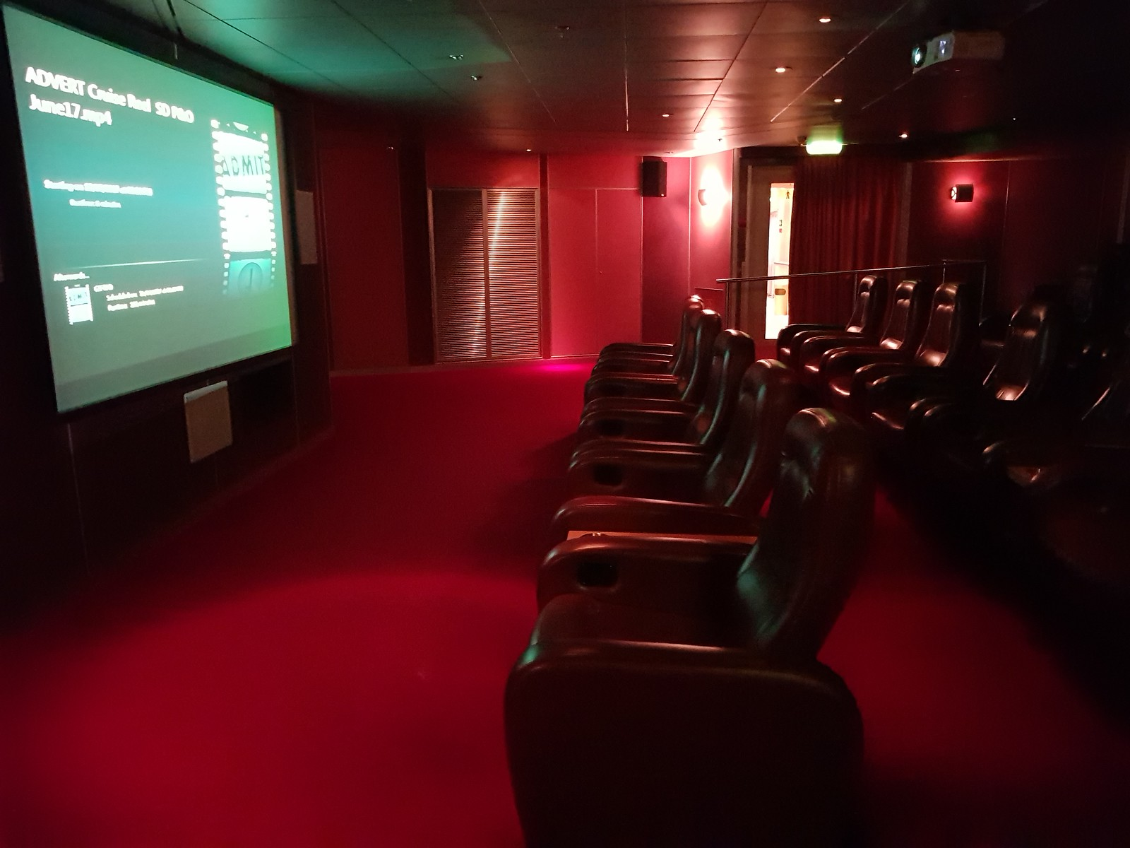 P&O Arcadia Screening Room