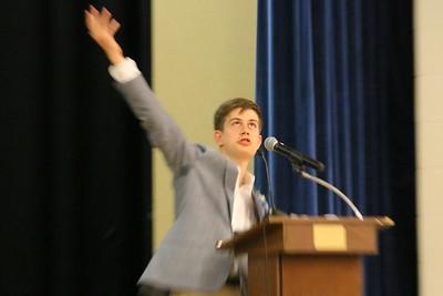 IMG_0015 Finn Offensend, Class Speaker,,,says he won't borrow from Shakespear for his speech