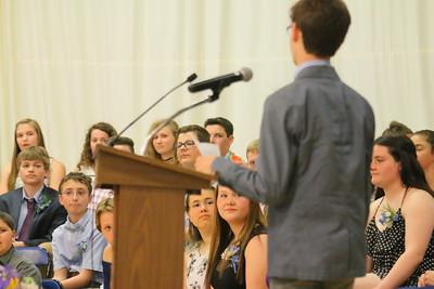 IMG_9958 kids listen to speech from classmate Jacob Ray