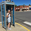 Phone booth in Rosalia, Washington.