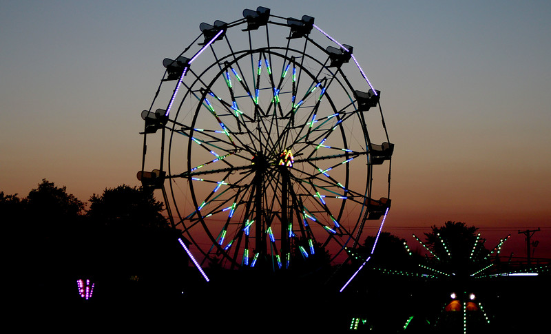 Though the threat of rain was present throughout the weekend, the sun set in clear skies over the Kendall County Fair on Friday, Aug. 4.