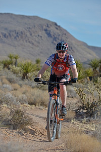 Participants ride the scenic trails of Red Rock Canyon during the 2017 Project Hero Las Vegas Mountain Bike Ride in Blue Diamond, Nv. Project Hero, a 501(c)3 organization, is dedicated to helping Veterans and First Responders affected by PTSD, TBI, illness and injury achieve rehabilitation, recovery and resilience in their daily lives. Photo by Tiffini Skuce.