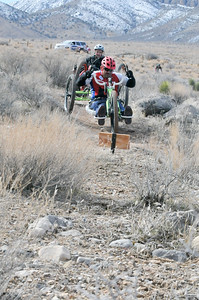 Participants ride the trails of Red Rock Canyon during the 2017 Project Hero Las Vegas Mountain Bike Ride in Blue Diamond, Nv. Project Hero, a 501(c)3 non-profit organization, is dedicated to helping Veterans and First Responders affected by PTSD, TBI, illness and injury achieve rehabilitation, recovery and resilience in their daily lives. Photo by Tiffini Skuce.