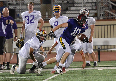 Riley Potthast as the North plays the South in the Lions All-Star Football Game on Saturday, June 17, 2017, in Oroville, California. (Dan Reidel -- Enterprise-Record)