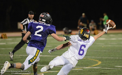 The North plays the South in the Lions All-Star Football Game on Saturday, June 17, 2017, in Oroville, California. (Dan Reidel -- Enterprise-Record)