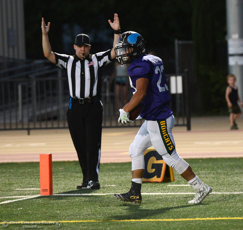 . Austin Garber as the North plays the South in the Lions All-Star Football Game on Saturday, June 17, 2017, in Oroville, California. (Dan Reidel -- Enterprise-Record)